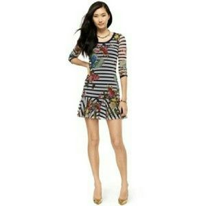 Juicy Couture Regal Bouquet Stripe Dress